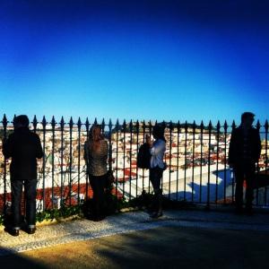 The Dream Team overlooking Lisbon